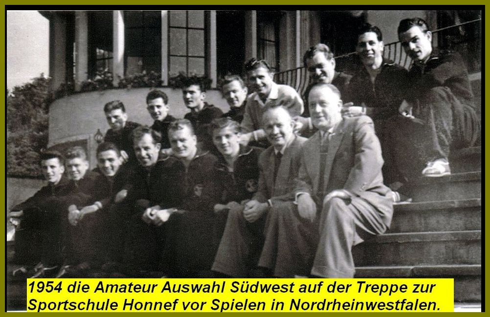 Amateur Auswahl Südwest 1954 bei der Sportschule Honnef