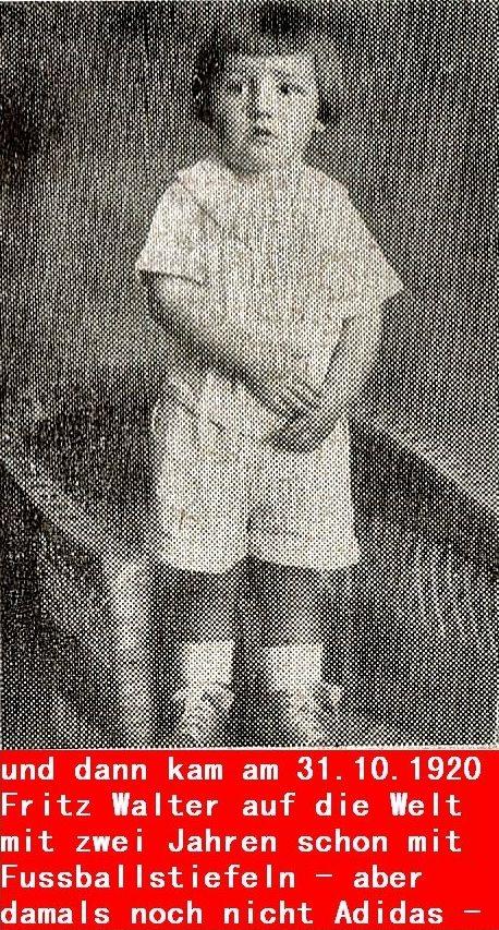 Fritz Walter mit 5 Jahren
