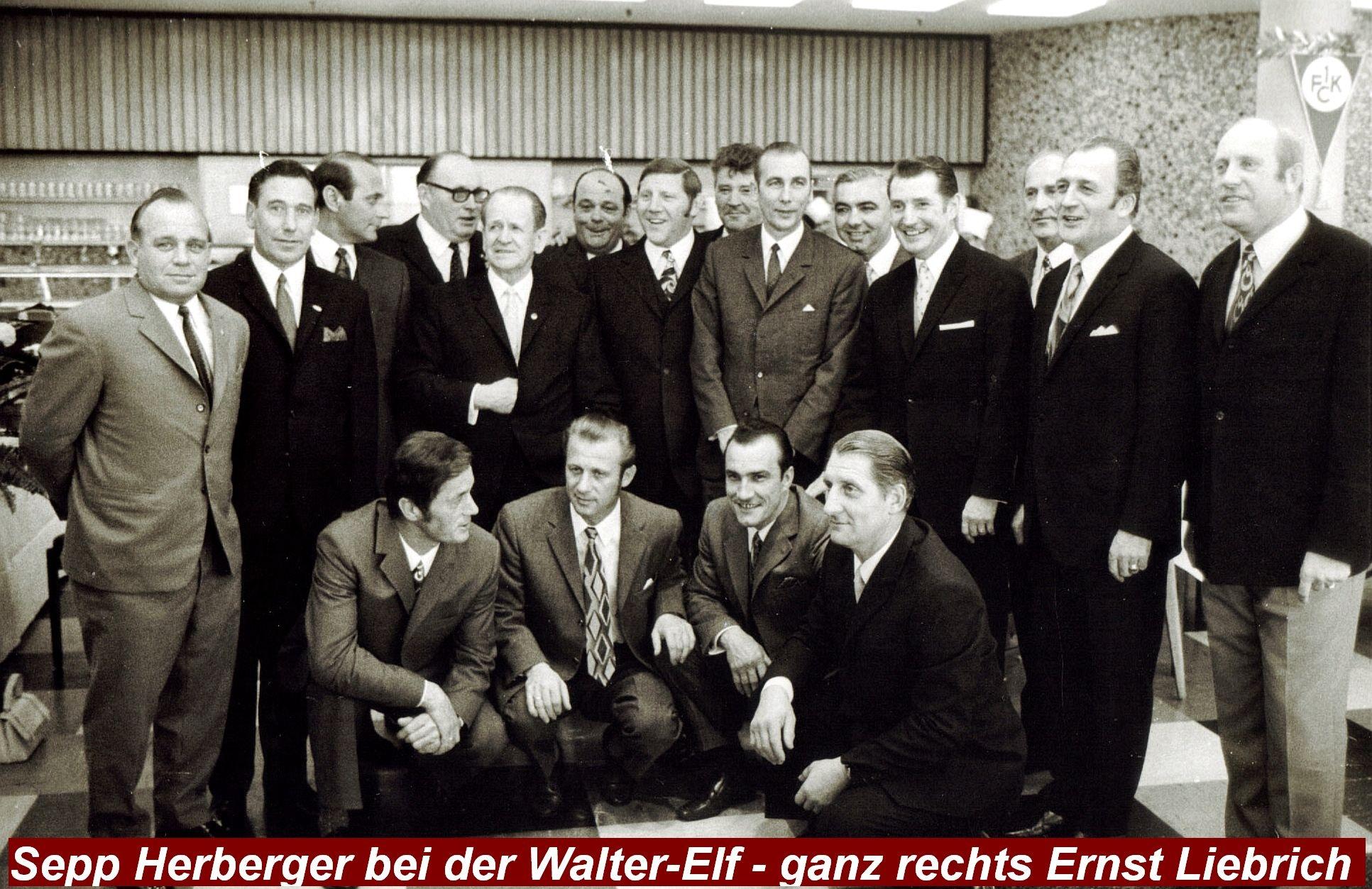 Herberger bei der Walter-Elf