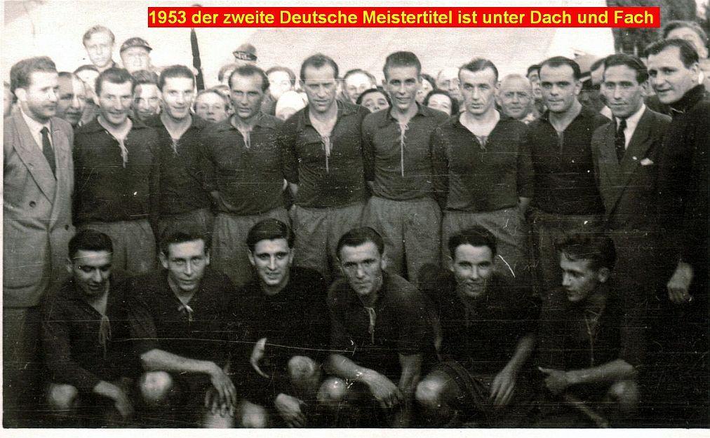 Zweite Deutsche Meisterschaft des 1. FC Kaiserslautern im Jahre 1953