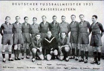 Deutscher Meister 1951 1. FC Kaiserslautern