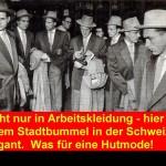 WM 54 - Mannschaft beim Stadtbummel mit Hut