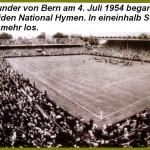 Endspiel 1954 in Bern - Die Nationalhymnen werden gespielt