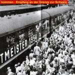 Fußball Weltmeister 1954 - Empfang an der Grenze zur Schweiz