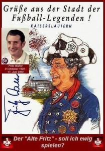 Fritz Walter Postkarte