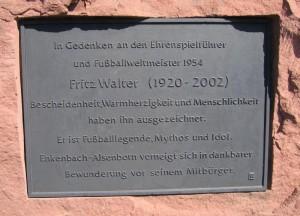 SV Alsenborn Fritz-Walter-Gedenktafel
