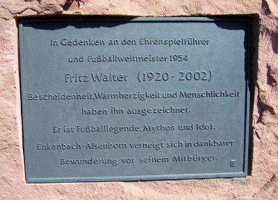 Fritz Walter Gedenkstein