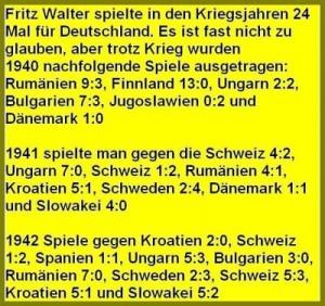 Fritz Walter spielte in den Kriegsjahren 24 Länderspiele für Deutschland.